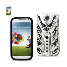 Reiko Silicon+Pc Cover With Pattern Kickstand Samsung Galaxy S4 Black