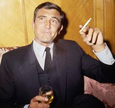 Photograph-George Lazenby - James Bond Photocall - London-Photograph printed in the USA James Bond Actors, George Lazenby, Bond Series, Secret Photo, People Smoking, Classy People, Australian Actors, Roger Moore, Sean Connery