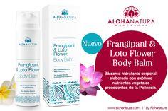 @alohanatura novedades Frangipani & Loto Flower Body Balm Bálsamo hidratante corporal, elaborado con exóticos nutrientes vegetales procedentes de la Polinesia.