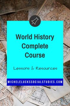 Find everything you need for a World History or Civilizations complete year course. 140+ resources in ONE! Includes comprehensive curriculum with unit lesson plans, daily bellringers & exits, student activities, and assessments. Addresses the standards and integrates technology while also utilizing interactive resources like Walking Tours, Response Groups, Interactive Lectures, Mapping, Primary Source Analysis, cooperative group lessons, centers, games, and more.
