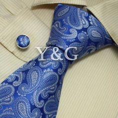I am obsessed with blue paisley ties on men. They are my favorite.