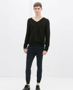 ZARA - MAN - KNIT TROUSERS WITH CORD