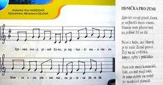 o zemi Kids Songs, Earth Day, Grid, Sheet Music, Planets, Palmas, Astronomy, Nursery Songs, Music Sheets
