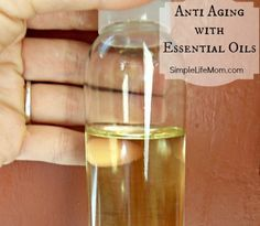 Anti Aging with Essential Oils by Simple Life Mom. DIY Anti Aging Serum using essential oils that are known to strengthen, firm, and heal your skin, making this a fabulous anti-aging serum.