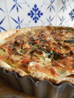 Tarte aux bettes et au parmesan, pâte à l'huile d'olive