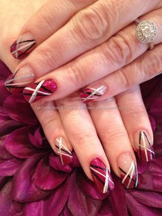 Nail Technician:Elaine Moore  Description: Freehand nail art  @ www.eyecandynails.co.uk