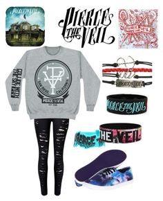 """""""Pierce The Veil"""" by rebeca-brewer ❤ liked on Polyvore featuring Vans"""