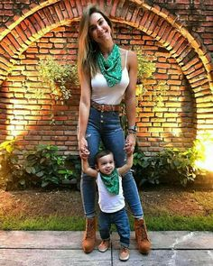Matching mom and son Mom And Son Outfits, Matching Family Outfits, Baby Boy Outfits, Kids Outfits, Fashion Kids, Toddler Boy Fashion, Mommy And Son, Mom Daughter, Kind Mode