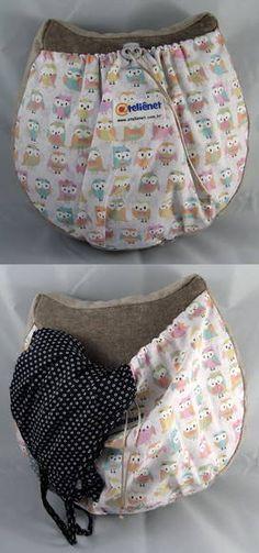 Pad holder Pajamas Owl + Caveirinha