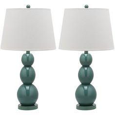 $193.69 Jayne 1 Light Three Sphere Table Lamp (Set of 2) Finish: Marine Blue by Safavieh, http://www.amazon.com/dp/B00BJ79L3A/ref=cm_sw_r_pi_dp_LzSasb0X66QBS