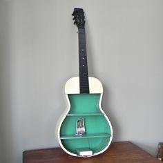 guitar shelf | Hand-painted guitar shelf | DIY