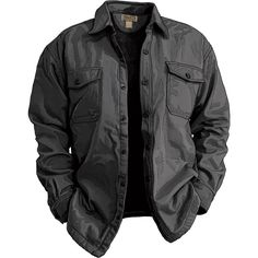 0c75603b78f Fire Hose Fleece-lined Shirt Jac from Duluth Trading Company - so hefty and  warm