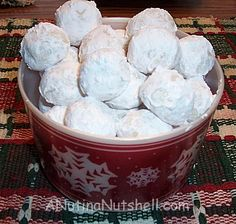 Polish wedding cookies, Mexican wedding cakes, etc. Whatever you call them they still remain my favorite holiday cookie :)
