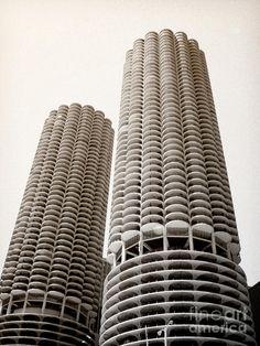 Bertrand Goldberg Architect; Marina City Chicago Photograph - Marina City Chicago Fine Art Print