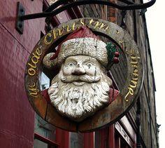 Vintage signage on Ye Olde Christmas Shoppe on the Royal Mile in Edinburgh Irish Christmas, 1st Christmas, Christmas Shopping, Vintage Christmas, Xmas, Royal Mile Edinburgh, Edinburgh Scotland, Scotland Travel, Scotland Trip