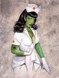 even nurses go zombie pinup