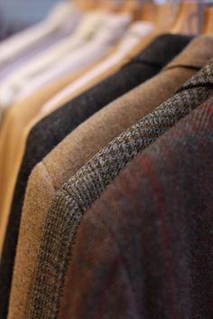 Tweed. Why am I so jealous of men's fabrics.  I want to know where I can get some of these in the women's section.