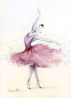 Ballerina Clipart: The Lightness and the Royal Beauty of Ballet Dancers in The Collection of Paintings and Illustrations of Ballerinas. Ballerina Kunst, Ballerina Painting, Ballerina Sketch, Ballet Art, Ballet Dancers, Ballerina Tattoo, Ballet Drawings, Watercolor Art Paintings, Watercolor Dancer