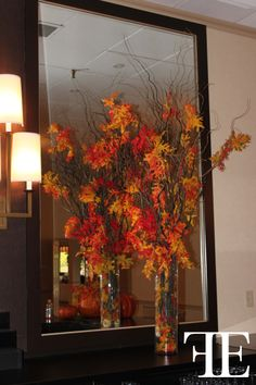 Flowerful Events | October 2012 | Brynwood Golf and Country Club | DECOR: Entrance | THEME: Fall/Halloween | Orange Weddings | Flowerful Events