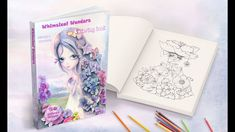 NEW ADULT COLORING BOOK:  Whimsical Wonders!