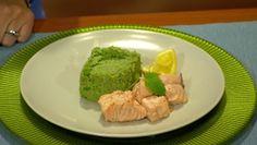 Pošírovaný losos, hráškové pyré s mätou