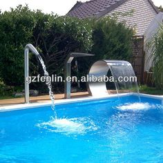 stainless steel above ground pools Above Ground Pool, In Ground Pools, Jacuzzi, Sauna Hammam, Water Curtain, Spa Jets, Pool Water Features, Outdoor Pool, Outdoor Decor