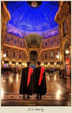 Police Officers at Galleria Vittorio Emanuele II, Milan, Italy