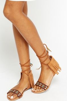 32d189d6602 Aztec Tassel Tie Up Knee Sandals - 3 Colours - Just £5 Special Occasion