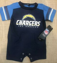 NEW NWT Los Angeles Chargers NFL Infant Navy Fan Jersey Romper One Piece  0-3 Mos be650bd17