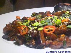 Yu Xiang Qie Hua - Chinesische pikante Auberginen - #Rezept