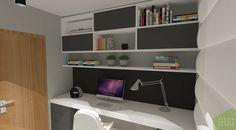 Home Office em preto e branco e lousa na parede para anotar recados. Projeto Hug Arquitetura #design #decor #designdeinteriores #arqdesign #architecture #instahome #interiordesign #arquiteturadeinteriores #decorismo #arquiteturadeinteriores #homedecor #cool #modern #passofundo #portoalegre #homeoffice #office #escritorio #lousa