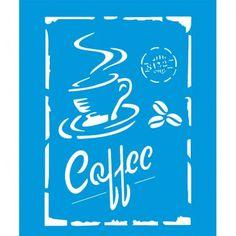 Stencil Opa 15x20 - Coffee OPA1753                                                                                                                                                                                 Mais