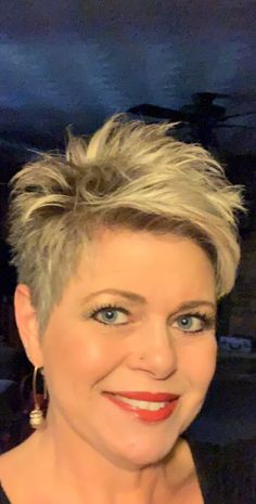 Hair, Ideas The Effective Pictures We Offer You About short afro hairstyles blonde Short Sassy Haircuts, Short Choppy Hair, Short Spiky Hairstyles, Short Hairstyles For Women, Funky Short Hair, Short Hair Cuts For Women, Short Hair Styles, Corte Y Color, Great Hair