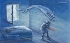"""Picturebook """"Winter Ghost"""", Cambridge School of Art, 2014"""