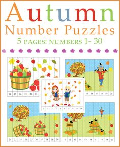 Autumn Number Puzzles - Numbers 1-30