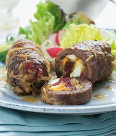 Hovězí ptáčky recept - ApetitOnline.cz Slovak Recipes, Czech Recipes, Ethnic Recipes, Baked Potato, Stew, Pork, Cooking Recipes, Meat, Kitchen