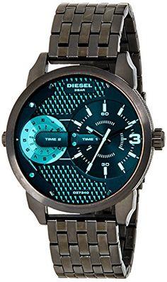 91836124f5d6 Diesel-DZ7340-Reloj-de-cuarzo-para-hombre-de-acero-inoxidable-negro