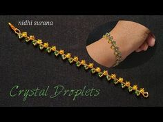 ⚜️ Crystal Droplets || How to make Rondelle Bracelet/ Pulsera Tutorial Diy (0408) - YouTube Beaded Jewelry, Beaded Bracelets, Craft Tutorials, Diy Tutorial, Seed Beads, Women Accessories, Jewelry Watches, Jewelry Making, Crystals