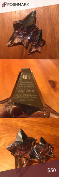 Angel Perfume Duo NEVER USED Angel perfume with mini travel size companion! This fresh and clean scent is perfect for every day wear and with the mini you can refresh your scent throughout the day! Any questions let me know :) thierry mugler Other