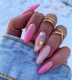 Glam Nails, Nail Manicure, Pink Nails, Gorgeous Nails, Love Nails, My Nails, Summer Acrylic Nails, Cute Acrylic Nails, Stylish Nails