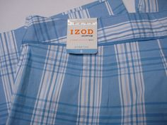 NEW IZOD XFG Stretch Golf Short Women's sz 6 Blue Plaid Swingflex NWT $56 #Izod
