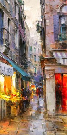 Ideas for landscape art painting abstract Watercolor Landscape, Abstract Landscape, Landscape Paintings, Abstract Art, Impressionist Landscape, Urban Painting, City Painting, Painting Art, Watercolor Paintings