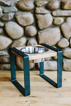 Rustic Elevated Dog Feeder Stand // SINGLE