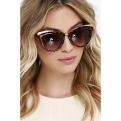 Craving some retro style? Indulge in the Flare It's At Tortoise Cat Eye Sunglasses! Tortoise cat eye frames are accented with shiny gold for a touch of glam. Stylish Sunglasses, Retro Sunglasses, Gold Sunglasses, Sunglasses Women, Sunnies, Tortoise Cat, Tortoise Shell Sunglasses, Cat Eye Frames, Cat Eye Glasses