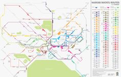 The official Matatu map of Nairobi developed by the project team.
