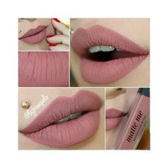 Sleek Makeup Matte me Ultra Smooth Matte Lip Cream cor Birthday Suit\ I love this color, you can still notice she has lipstick on but it's really natural Pretty Makeup, Love Makeup, Makeup Inspo, Makeup Inspiration, Makeup Style, Girls Makeup, Makeup Geek, Makeup Tips, Lipstick Colors
