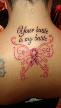 Breast Cancer Tattoo in honor of my friend Terri, I am here beside her all the way! 10/18/2015