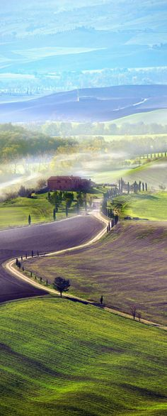 Countryside road in Tuscany, Italy. #italy #travel #tour #vacation #holiday #beautiful