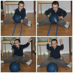 This is designed for children who have poor sensory motor development. They can roll any kind of ball in between the lines or on the lines.