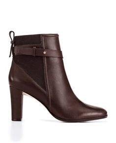 Ann Taylor - Flora Buckle Leather Booties
